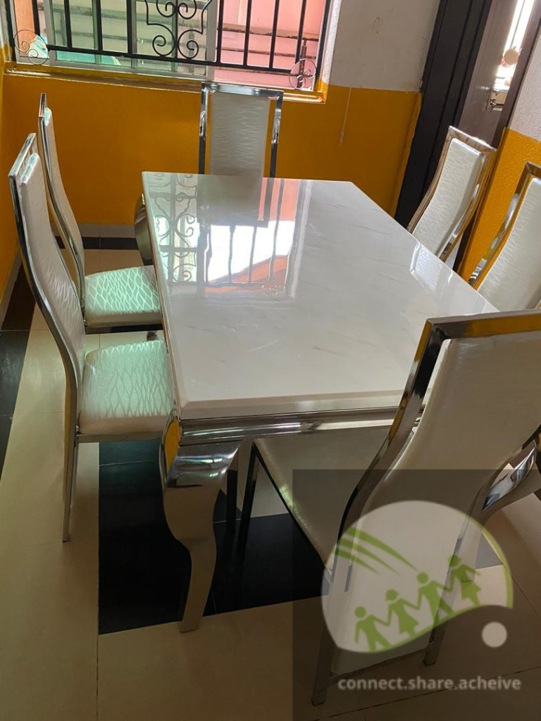 Marble 6 Seater Dining Set