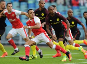 Alexis Sanchez of Arsenal in action