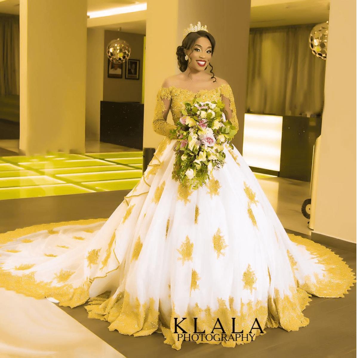 Nigrian Bridal Wedding Dresses: This Gold-Detailed April By Kunbi Wedding Dress Is What