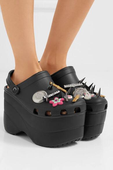 9e0bef6908e145 Balenciaga Just Released Designer High Heeled Crocs And We Have No ...