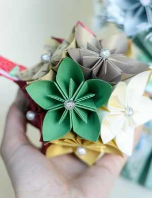 Glob flori hartie Origami