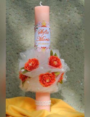 Lunmanare botez cu flori si dantela 1