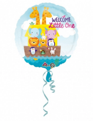 balon folie 45 cm animalute welcome little one