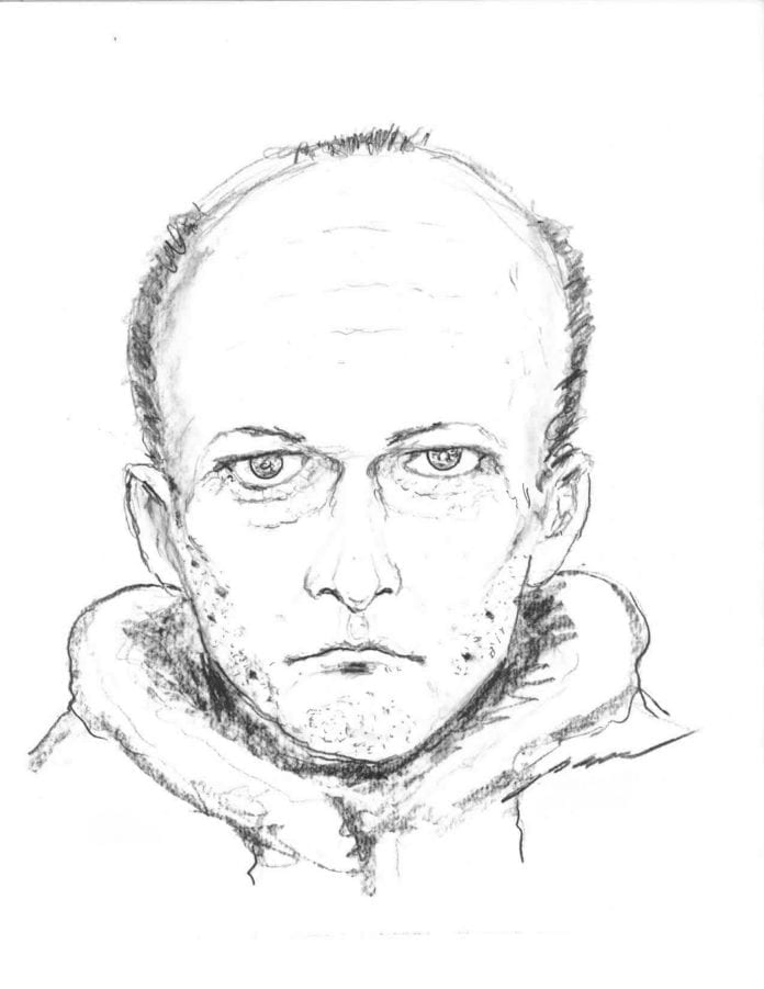 Police release sketch of suspicious male following