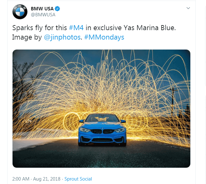 Image link building example BMW and Audi