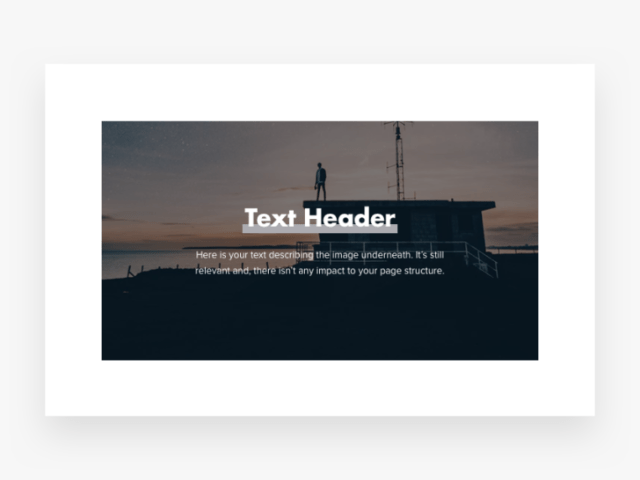 example of text on top of image