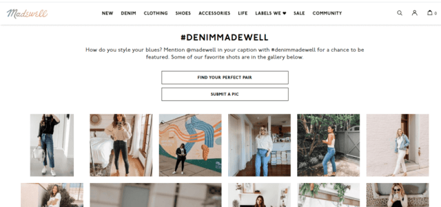 Madewell - Example for social media strategy