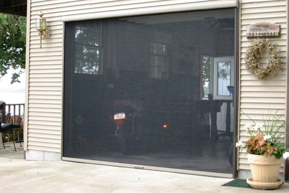 Retractable Garage Screen for Double and Single Garages  Stoett Industries