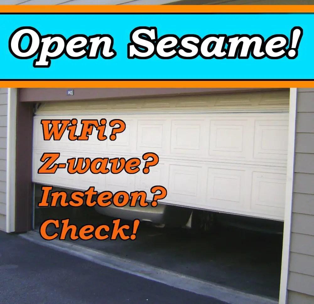 hight resolution of smart garage door opener feature