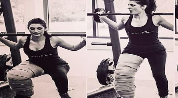اعتادت إيمي على ممارسة الرياضة رغم حالتها الصحية (ديلي ميل)