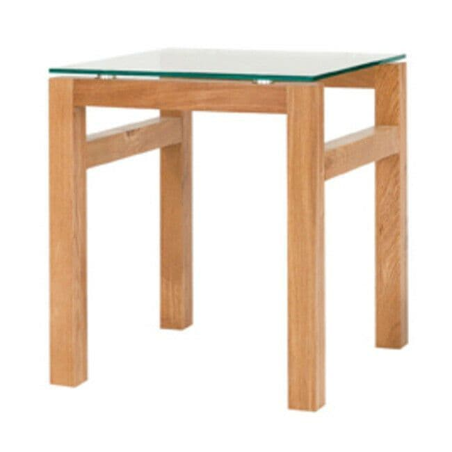 contemporary white oak glass square lamp side end coffee table