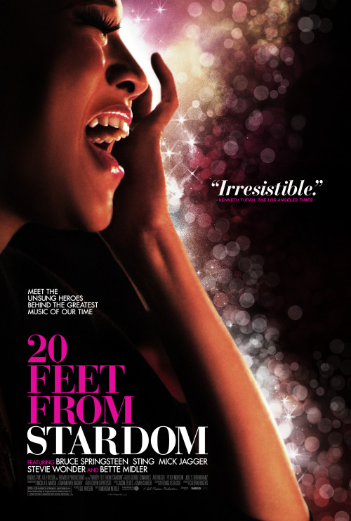 The official poster for TWENTY FEET FROM STARDOM.  In theaters June 14!