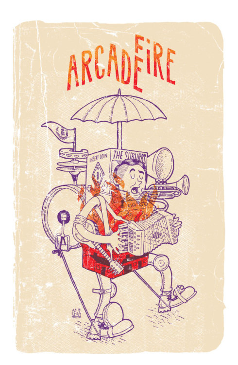 Arcade Fire Poster by CaliDosO