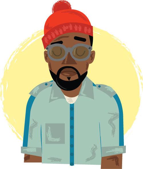 hatedxloving:  Team Zissou - Kanye Wes by Phil Howell