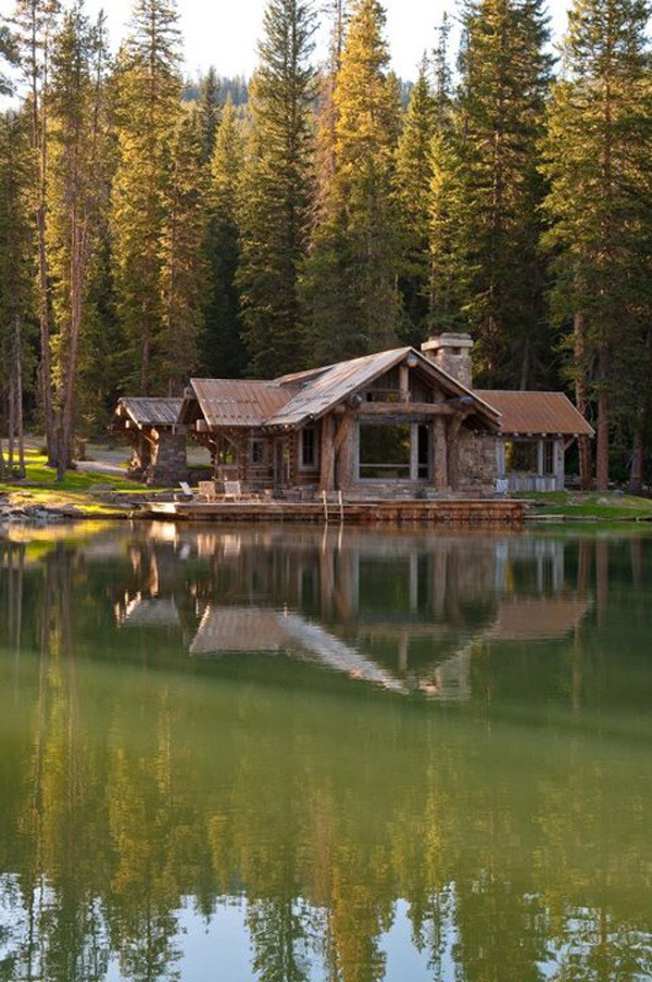 rustic country cabins home design
