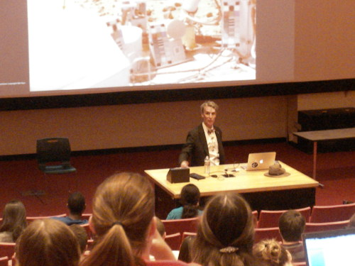 Bill Nye giving an Astro 101 lecture at Cornell.