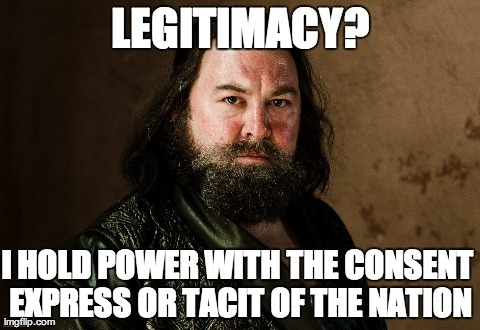 """Game of Thrones is about to come back and we're on it thanks to this marvellous guest post! """"The capacity of a government to represent the State in its international relations does not depend in any degree upon the legitimacy of its origin, so that the USURPER who in fact holds power with the consent express or tacit of the nation acts validly in the name of the State."""" Dreyfus case, 1901. (Thanks LC!)"""
