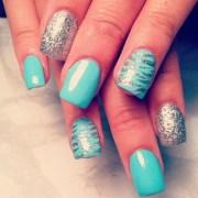 pretty blue silver nails eyeslikestarsalways
