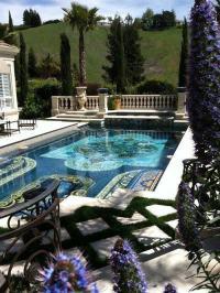 summer luxury mansion rich sun house pool garden Villa ...