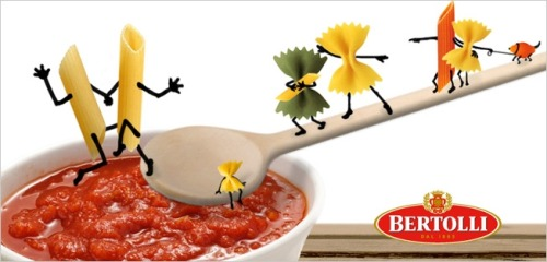 "passtheranch: From Bertolli Germany. Source Barilla is struggling enough this week without its competitors piling on. But Bertolli doesn't care. Seizing on comments made by Barilla's chairman about how the company would never put gay couples in its advertising, Bertolli Germany quickly posted pro-gay imagery in its social feeds, happily taking advantage of its rival's misstep. ""Love and pasta for all!"" reads the caption on the Facebook photo above. ""We just wanted to spread the news that Bertolli welcomes everyone, especially those with an empty stomach,"" a rep for Orca im Hafen, Bertolli's social-media agency in Germany, tells AdFreak.  So freaking cute!"