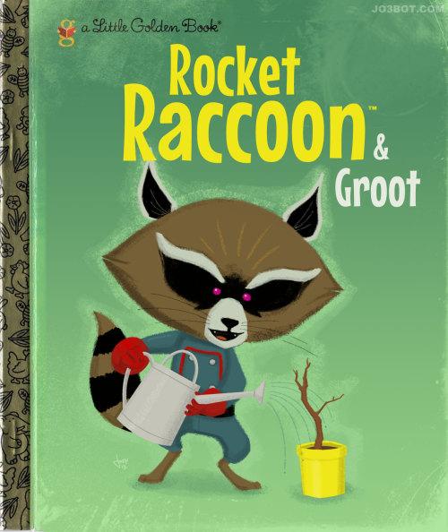 rocket raccoon and groot golden book