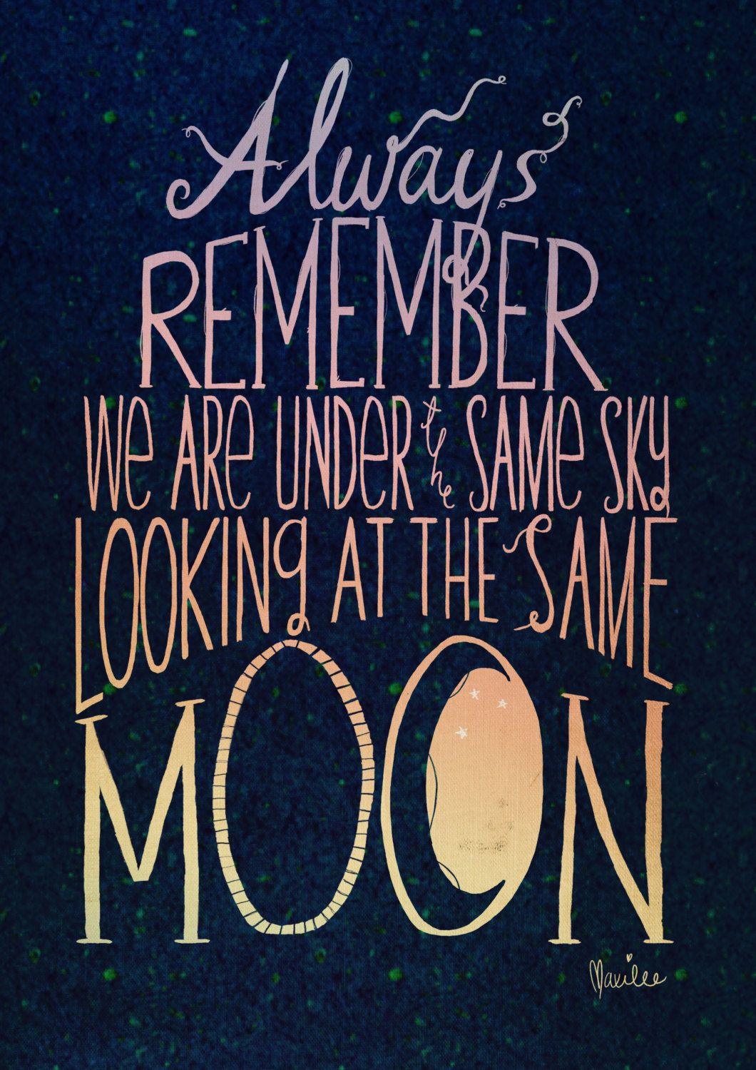 Under The Same Moon Quotes Quotesgram