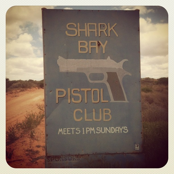 Shark Bay Pistol Club Instagram image by Phil Hill