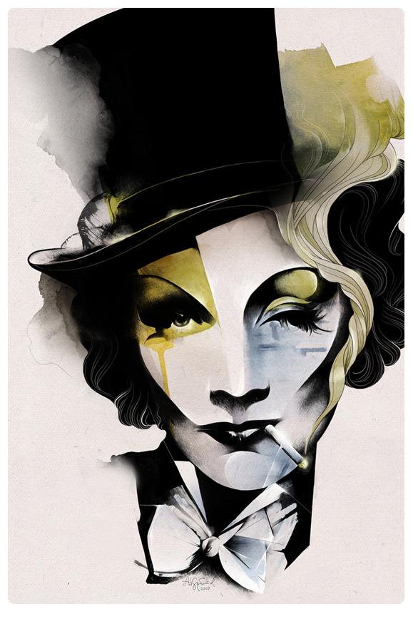 Marlene Dietrich by Alexey Kurbatov