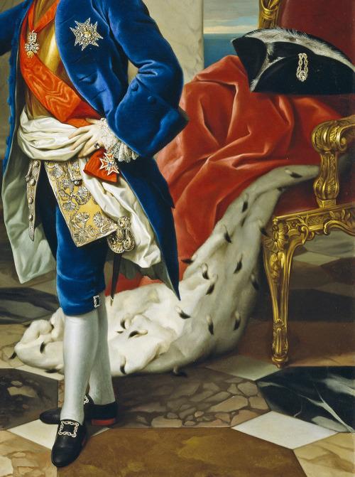 jaded-mandarin:  Anton Raphael Mengs. Detail from Ferdinand IV, King of Naples, 1760.