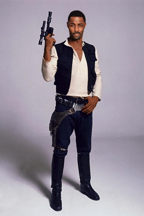 IDRIS ELBA as han solo star wars cosplay