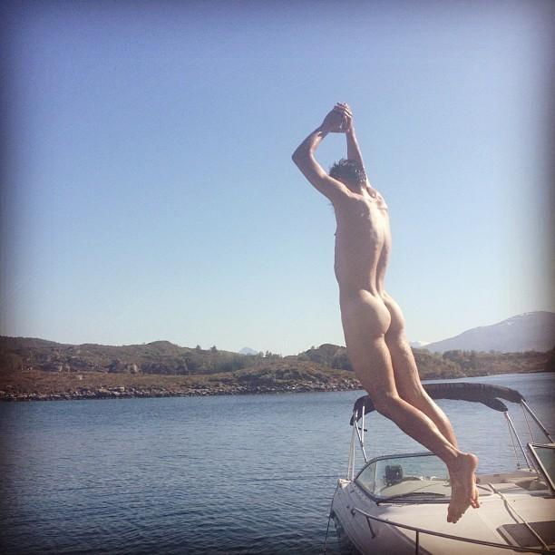 water bathing boy