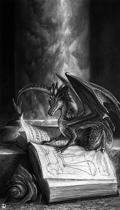 Read a book<br /> and you'll never know<br /> what will pop up from the page.<br /> Dragons, monsters, and lovers<br /> might fill your imagination.<br /> You will never be alone again.