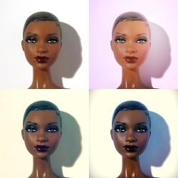 Pretty Beauty Black Girl Makeup African American Natural Hair Dark
