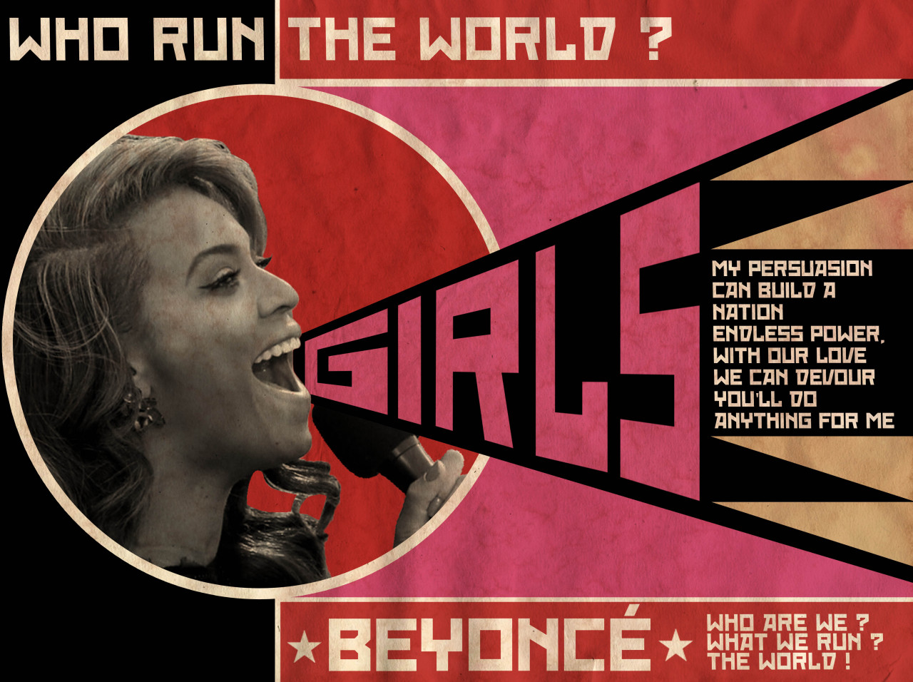 Run the world (Girls) / Beyoncé © Ads Libitum : facebook / tumblr / behance