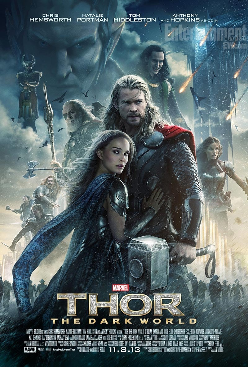 Check out the latest poster for Thor: The Dark World featuring Chris Hemsworth, Natalie Portman, Tom Hiddleston, Christopher Eccleston and Anthony Hopkins. The highly-anticipated sequel hits theaters November 8. [Photo Courtesy: Entertainment Weekly]
