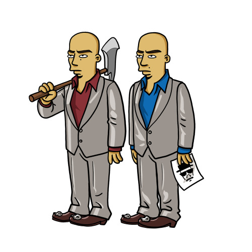 "The Cousins (Marco & Leonel Salamanca) from ""Breaking Bad"" / Simpsonized by ADN"