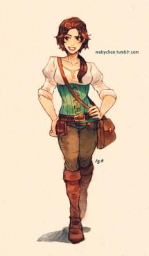 Tangled Disney Fanart Rapunzel Peter Pan Esmeralda Jack