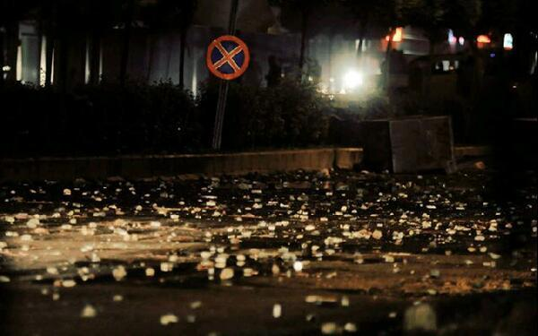 Teargas shells left over by Antalya police