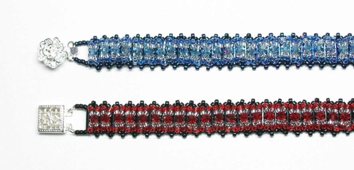 Criss cross bugle bracelets