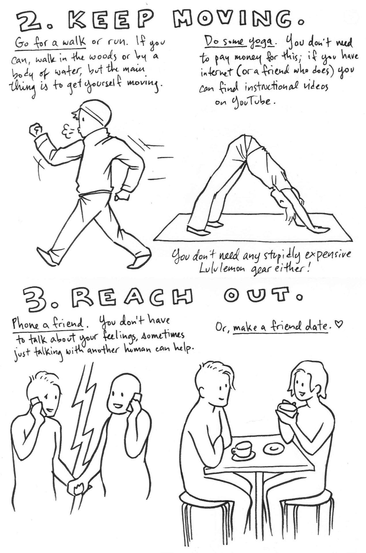 art depression suicide anxiety comic comics running yoga
