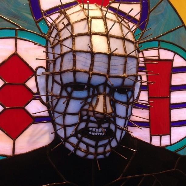 Geek Art Gallery Crafts Hellraiser Stained Glass