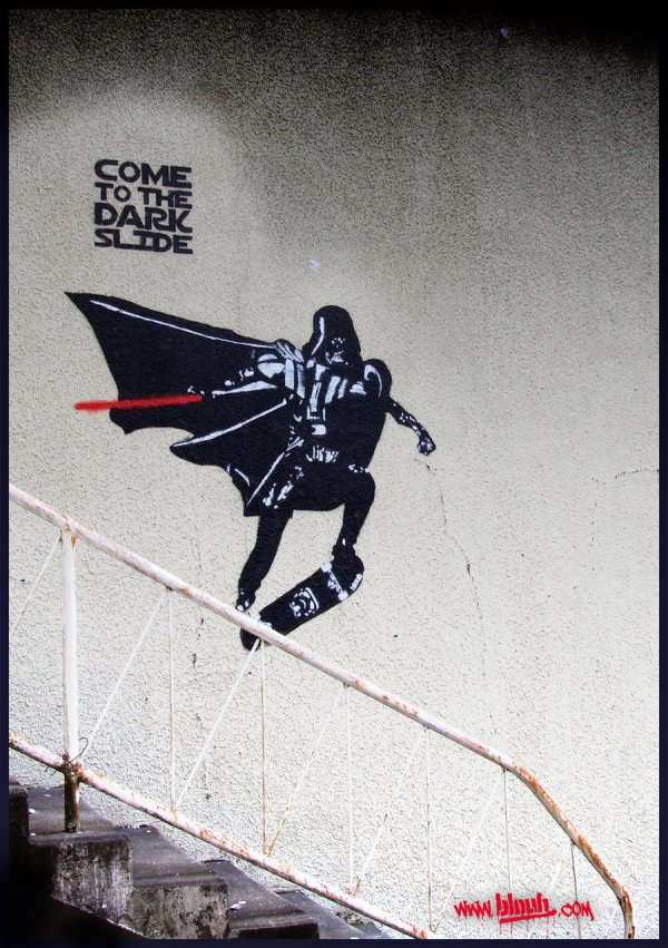 Geek Art Street Star Wars Stencil Work