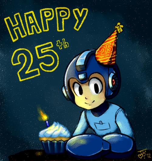 Mega Man Happy 25th Picture