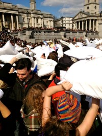 Mehek: National Pillow Fight Day | Global Crossroads