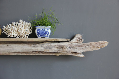 etsy find of the day | 6.23.13large sculptural driftwood shelf by oceansweptindeed, this shelf is simple and charming. two pieces of driftwood are secured together to make a natural, beautiful shelf. want!