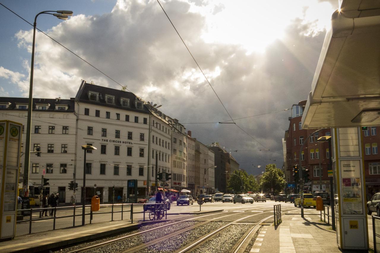 Sun shines in Berlin.