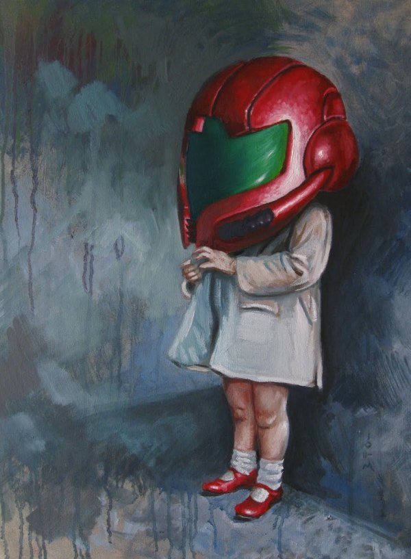 Geek Art Paintings Helm Kids