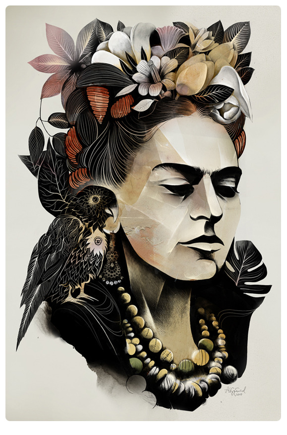 Frida Kahlo by Alexey Kurbatov
