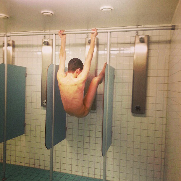 nude boy in the shower