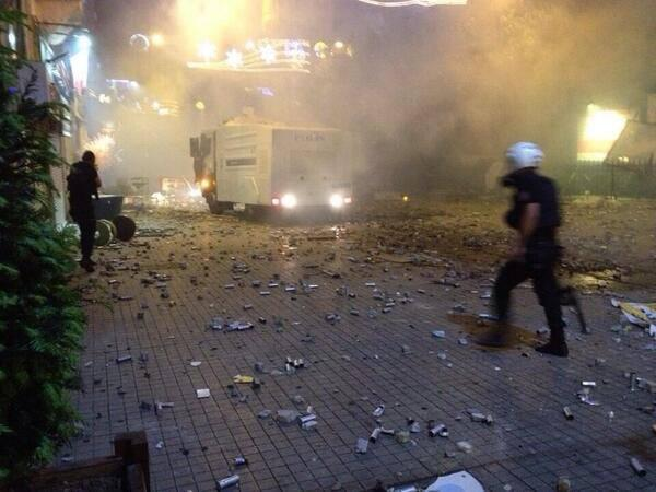occupygezipic: Another picture attesting to the amount of pepper spray used by the Turkish police.